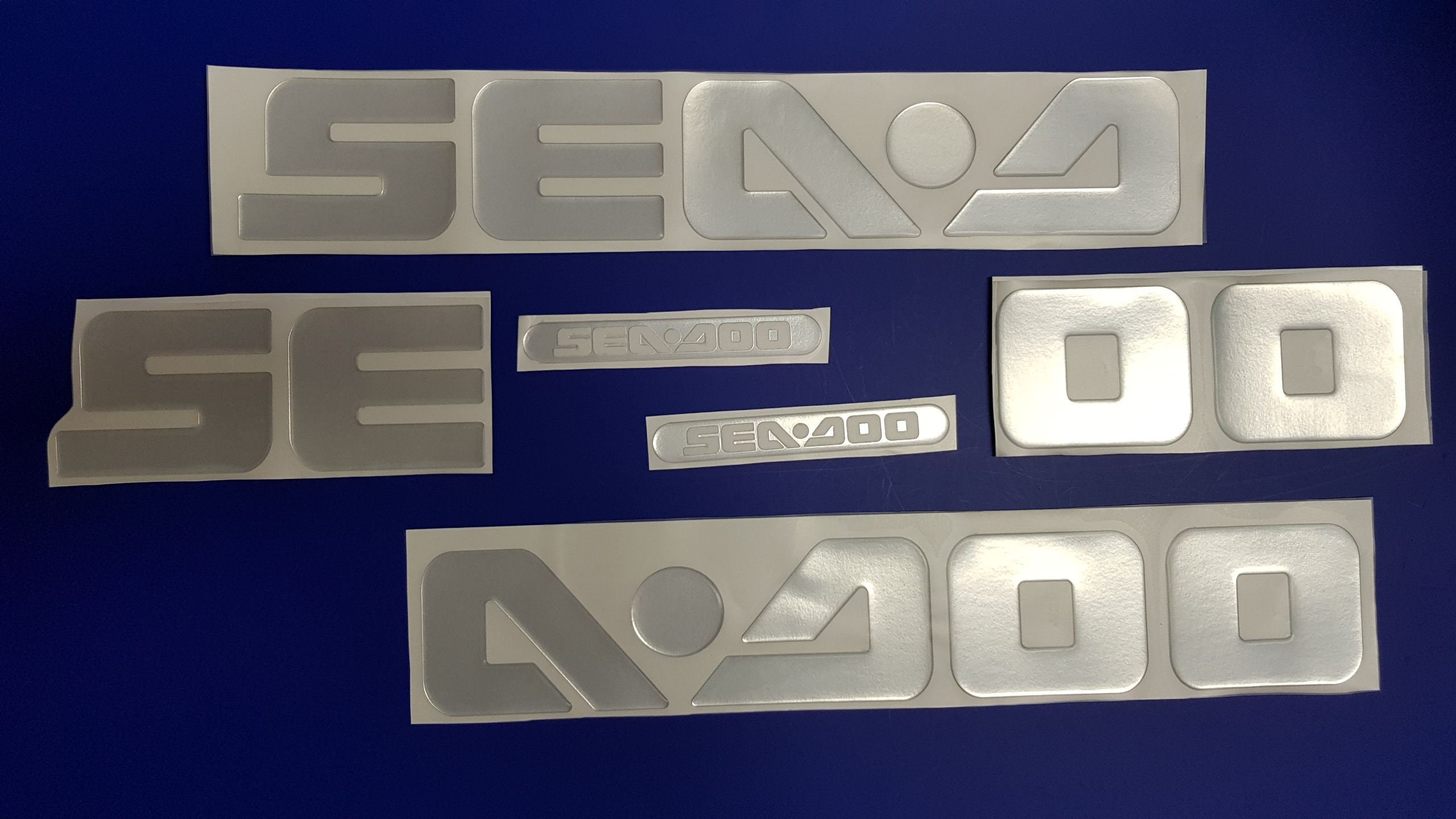 "Sea Doo boat Emblems 32"" chrome + FREE FAST delivery DHL express - Stickers Set - Graphics Decal, used for sale"