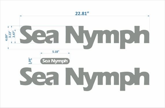 """Sea Nymph Boats Emblem 22/"""" raised decal set FREE FAST delivery DHL express"""