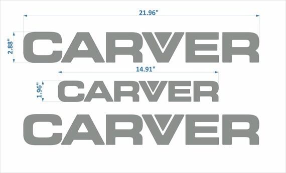"""CARVER boat Emblem 18/"""" chrome black FREE FAST delivery DHL express"""