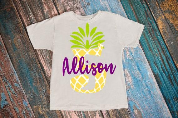 Pineapple Svg Luau Shirts 5th Birthday T