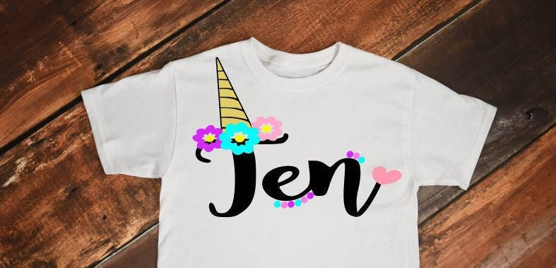 Unicorn Svg 10 Birthday Horn Head Tenth 10th Shirt Girl
