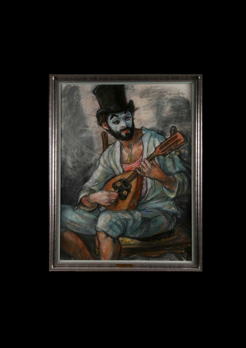 Minstral Clown pastel by Schoneberger image 0