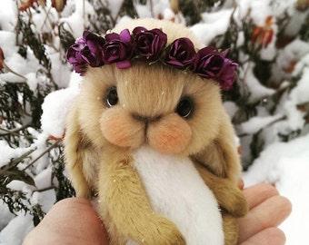 Teddy bunny. Make to order. Teddy rabbit. Plush rabbit toy. Rabbit toy. Bunny toy. Stuffed rabbit. Artist bear.