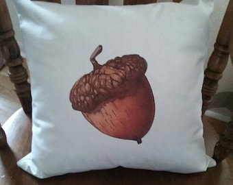 Acorn Pillow Cover 18x18""