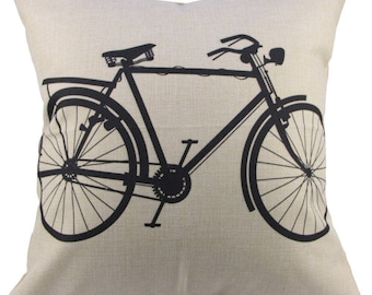 """Bicycle Pillow Cover 18x18"""""""
