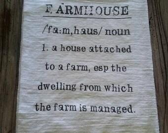 Farmhouse Definition Flour Sack Kitchen Towel