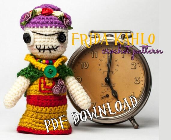 Amigurumi Frida Kahlo Doll Free Pattern | Crochet dolls free ... | 466x570