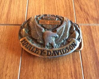 6f154f59390291 Jahrgang 1992 Harley Davidson Gürtelschnalle, hergestellt in USA