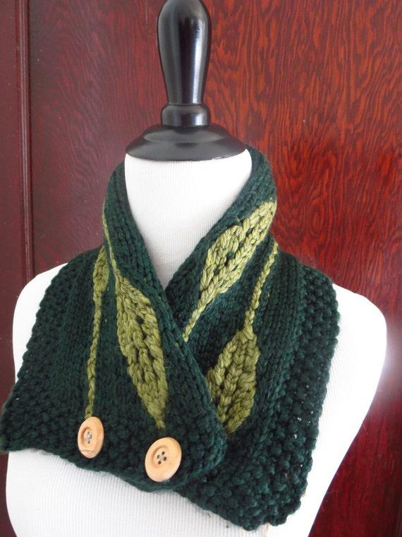 Hand Smaragd grünes Blatt Schal stricken zugeknöpft Kutte   Etsy