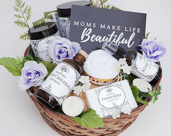 All Natural Pregnancy Gift Basket New Mom Baby Birthday Spa Organic