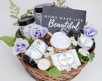 All Natural Pregnancy Gift Basket New Mom Baby Birthday Spa Mothers Day