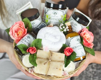 Care Package Self Bath Bomb Gift Set Spa Basket 21st Birthday Engagement