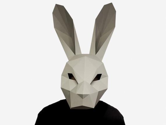Children Easter Bunny Mask DIY Craft 12 Pcs Set Kids Fancy Party Decor Accessory