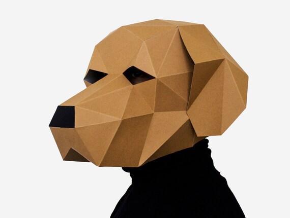 Dog labrador mask diy printable animal head instant pdf etsy image 0 maxwellsz