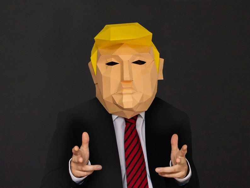image regarding Donald Trump Mask Printable known as Donald Trump Politician Paper Mask, Do it yourself Donald Trump Paper Mask, Donald Trump Reward Strategy, Quick Pdf down load, Do-it-yourself Printable Paper Mask,