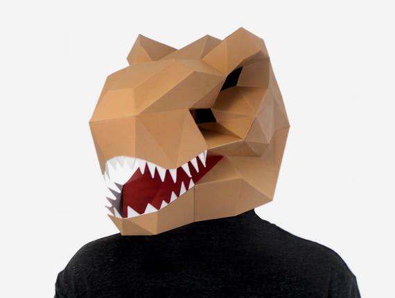 Origami Dinosaur - T-Rex 3D Head | Origami | Paper Art - YouTube | 430x570