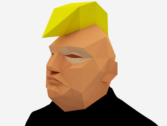 photograph regarding Donald Trump Mask Printable identify Donald Trump Mask, Politician Mask With Mohawk, 3D Paper Craft Template, Halloween Mask, Printable Very low Poly Paper Mask, Instantaneous Pdf Down load