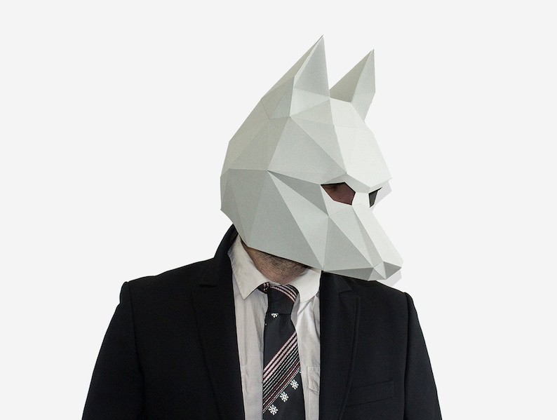 image regarding Printable Wolf Mask Template for Kids known as Do-it-yourself Wolf Mask, Lower Poly Paper Craft Template, Printable Wolf Mask, Instantaneous Pdf Obtain, 3D Very low Poly Mask, Origami Wolf, Do-it-yourself Reward Strategy,
