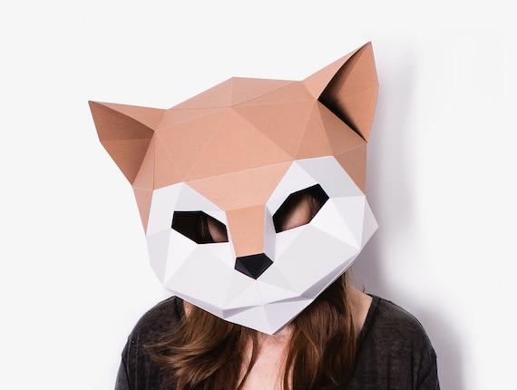 magasiner pour le meilleur haute qualité très convoité gamme de DIY Cat Mask Template, Paper Craft, Kitten Mask, DIY Printable Mask,  Instant Pdf Download, 3D Low Poly Mask, Origami Cat, Cute DIY Gift Idea