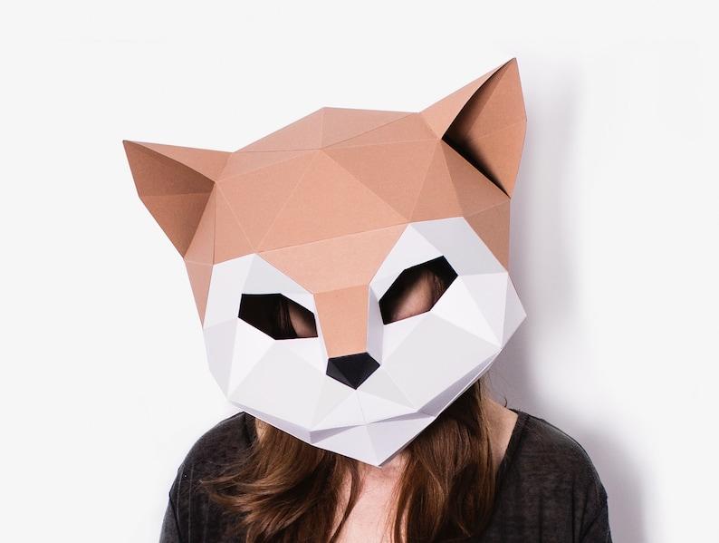 Diy Cat Mask Template Paper Craft Kitten Mask Diy Printable Etsy