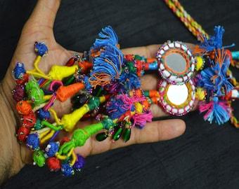 banjara home decor Yellow tassel gypsy tassel gypsy decor keychains belly dance A set of 10 pieces of Camel tassel gypsy jewerly