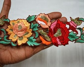 Silk Embroidered Saree Ribbon Trims Decorative Indian Sari Border Trim By The Yard Sewing fabric trims and embellishments Crafting Trimmings