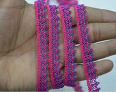 1 cm Magenta Decorative Ribbon Indian Laces Trims By 9 Yard Gimp Cord Lace Braided Curtains Crafting Sewing Upholstery Embellishments