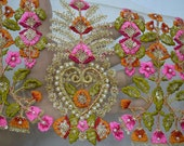 Embroidery Indian Laces Sari Border Trim By The Yard Embroidered Ribbon Silk Decorative Sewing Fabric Trims Craft Ribbon Saree Trimmings