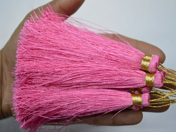 12 Gorgeous pearl Tassel Latkan for designer suit scarf purple 3 inches long