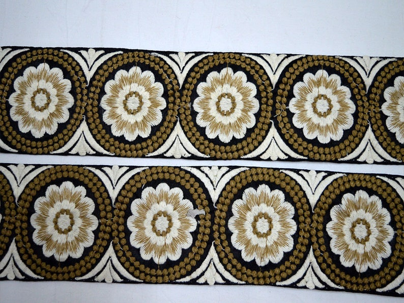 Wholesale Brown Embroidery Dress Trim Costume Crafting Sewing Indian Fabric Trimmings Decorative Sari Border By 9 Yard Garment Accessories