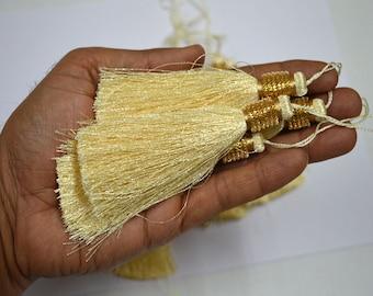 8 Pieces Indian Decorative Boho Ivory Tassels Tribal Camel Tassel Saree Latkan Hippie Banjara tassel charm Accessories Curtain Tassels