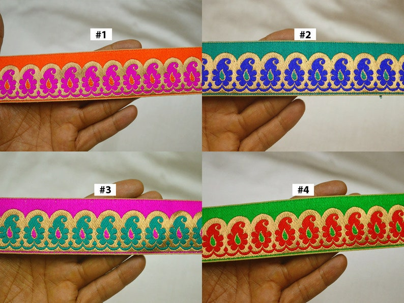 9 Yard Wholesale Jacquard Sari Border Indian Dress Fabric Trims Saree Ribbon Brocade Embellishment Sewing Crafting Table Runner Trimmings