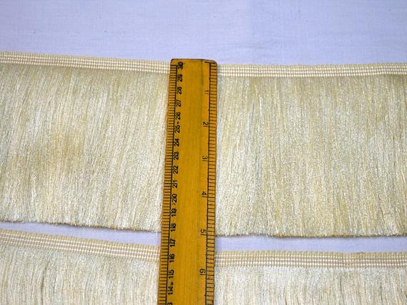"Ivory Offwhite 2/"" Thin Bullion Fringe Trim Victorian Silk 5 Yards"