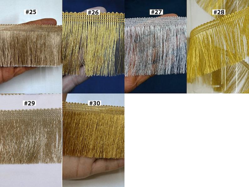 4 Yard Fringe Trim 2.5/'/' Indian Brush Eyelash Tassel Trimmings Decorative Drapery Upholstery Cushions Home Decor Curtains Sewing Craft Tapes