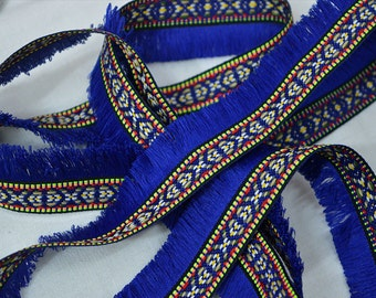 4 Yard Gypsy Bohemian Boho fringe trim, Boho Fringe tape Indian fringe trim, trim with fringe ethnic trim, fringed ribbon retro fringed trim