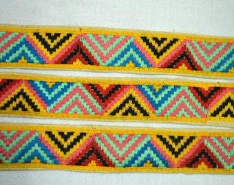 Decorative Embroidered Trim Sewing Crafting Trim Indian Laces fabric trims and embellishments Sari Border Trim By The Yard Trimmings