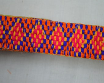 Multi color Indian Laces Decorative Trim Sari Border Sewing Crafting Trim By The Yard sewing Fabric trims and embellishments Embroidered
