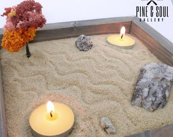 DIY Zen Garden Pack - Therapeutic Sand Box - Rock Garden