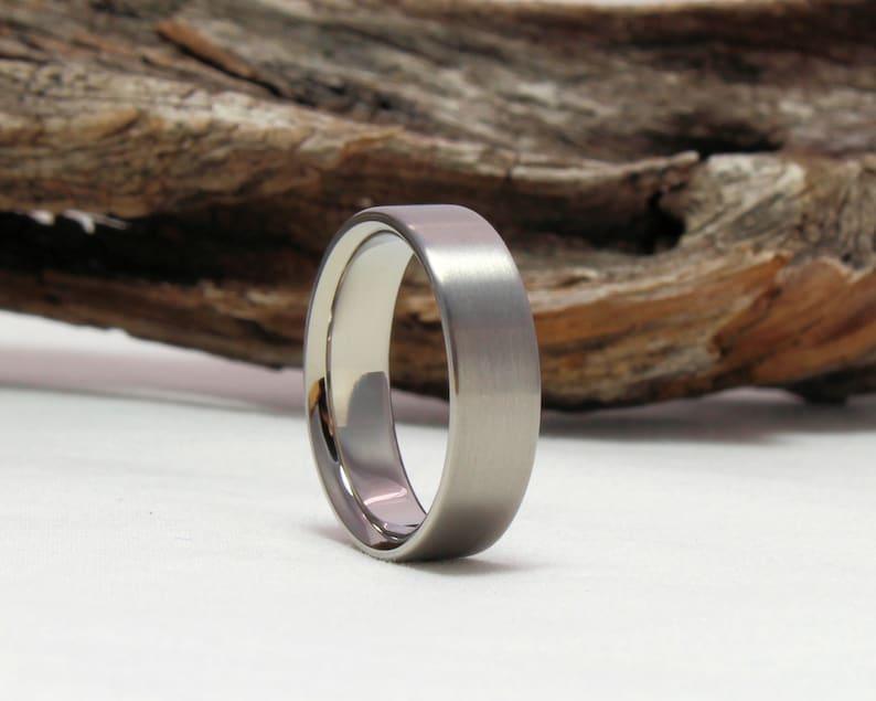 Titanium Ring Womens Ring Classic Wedding Band Classic Titanium Ring Titanium Wedding Band Mens Ring Mens Engagement Ring