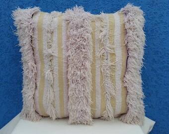 """SALE * Moroccan wedding pillow, Vintage Handira pillow, Berber Throw pillow - Handira cushion 21,6""""/21,6"""""""