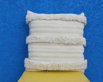 """Moroccan wedding pillow, Vintage Handira pillow, Berber Throw pillow- Handira cushion 24""""×24"""""""