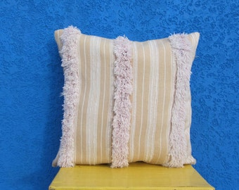 """Moroccan wedding pillow, Vintage Handira pillow, Berber Throw pillow- Handira cushion 24""""/24"""""""