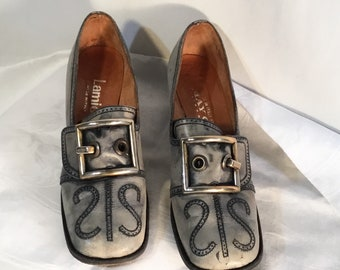 6dac6831343 Lamica Big Buckle Pilgrim Style Woman s Shoes