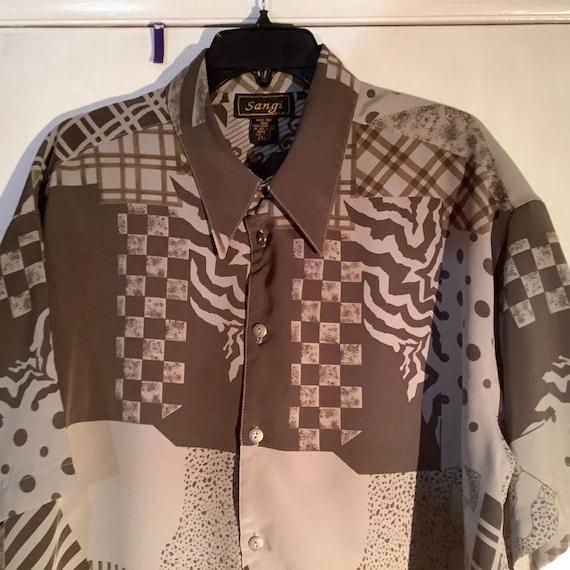 Men's Vintage Disco Shirt, XL