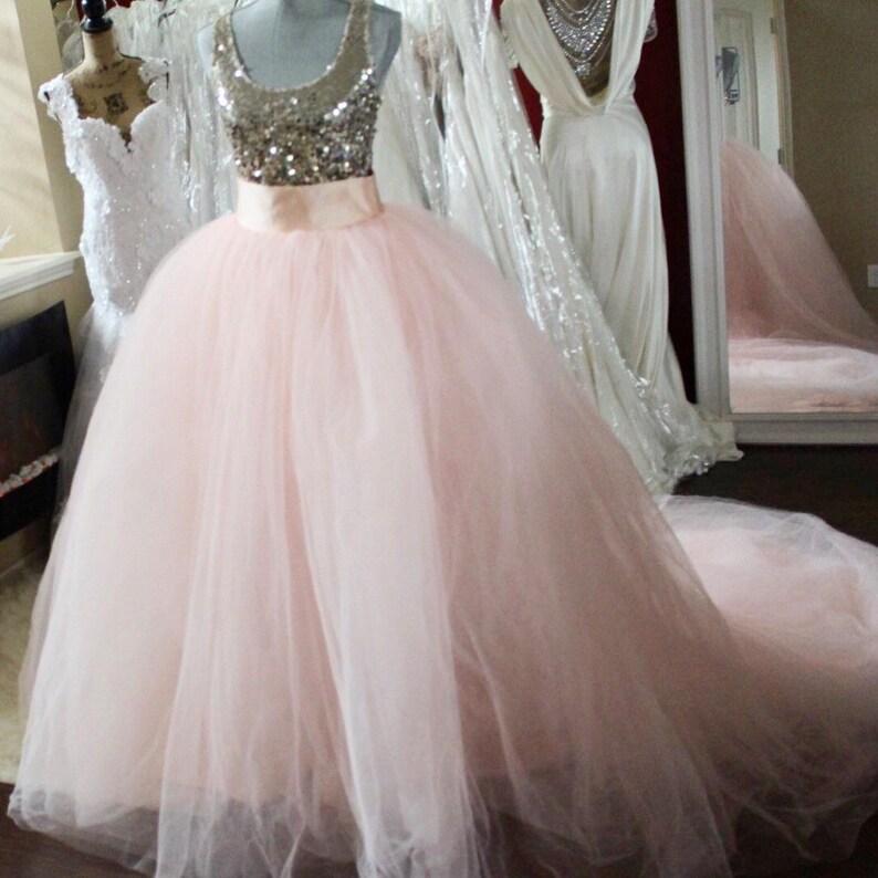 2b16d0ffad10 3ft Detachable Blush Pink ballgown skirt / bridal skirt /   Etsy