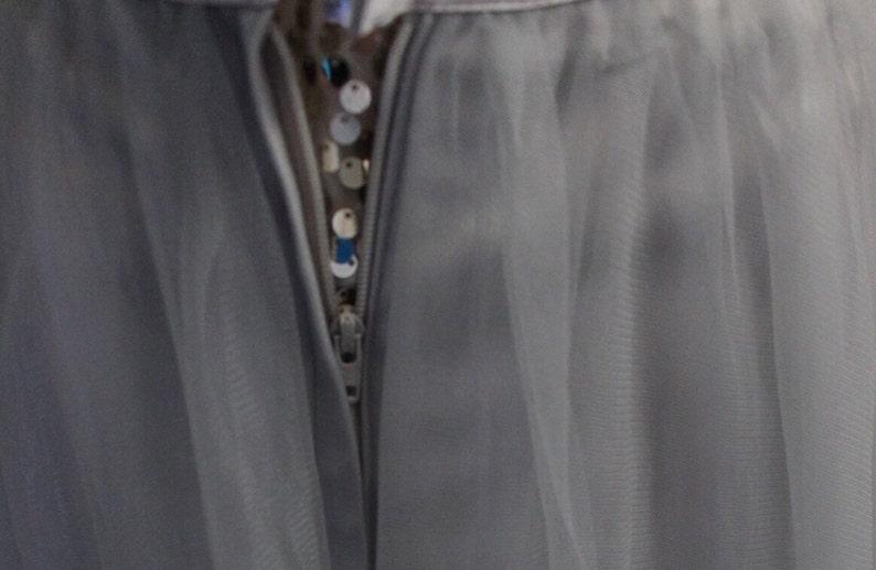28 waist Gray maxi tulle skirt  grey tulle skirt floor length skirt  long tulle skirt  custom made skirt  bridesmaid skirt
