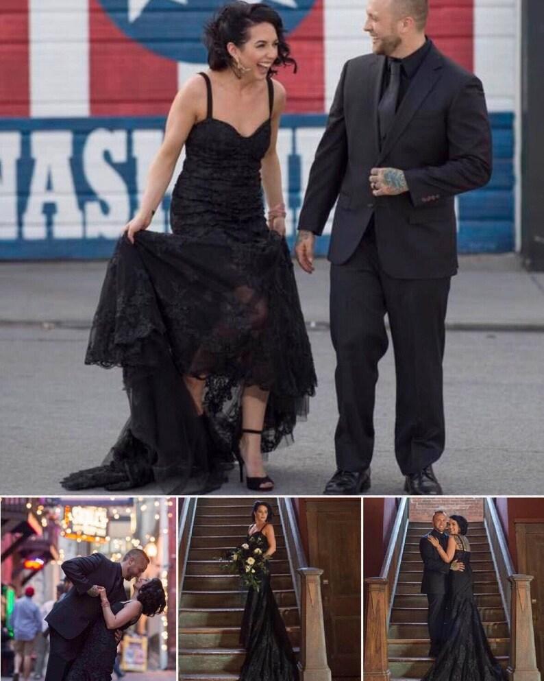 77ee9b569411 Black lace mermaid dress / black dress / custom made black | Etsy