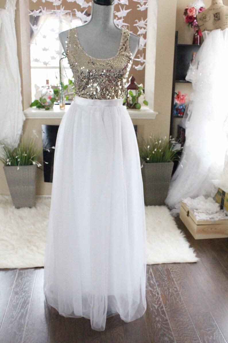 Zeer Witte lange maxi tulle rok / vloer lengte rok White / bruid | Etsy &DN21