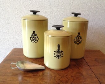 Vintage West Bend Canisters, Aluminum Canisters, Set of 3