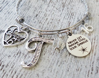 Sweet 16 Bracelet Year Old Jewelry Never Let Anyone Dull Your Sparkle Birthday Gift Girls Best Friend